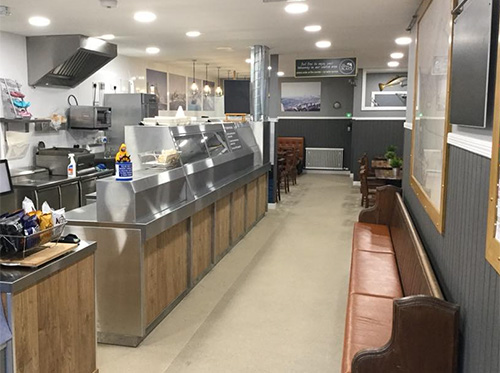 The Eating Plaice interior