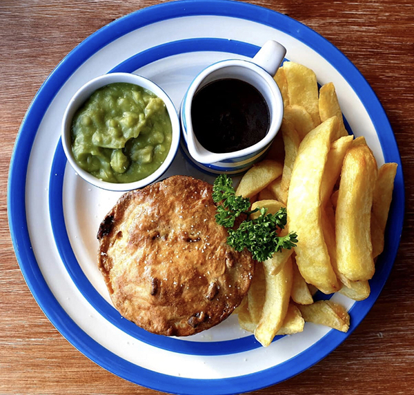 Pie, chips, pie week, fish and chips