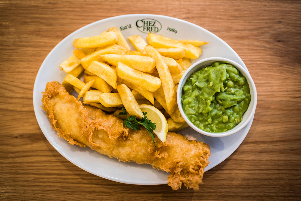 Chez Fred, fish and chips, takeaway, restaurant, reduce food waste, KFE frying ranges